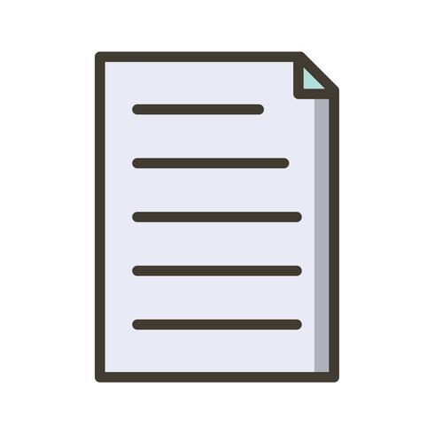 Vector icono de documento
