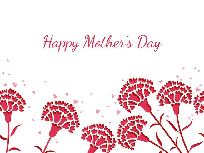 Nahtlose Vektorhintergrundillustration mit Textplatz für Muttertag.