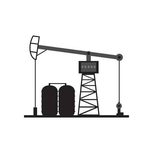 Bohrinsel am Meer. Ölplattform, Gaskraftstoff, Industrie Offshore, Bohrgerättechnologie lokalisiert auf weißem Hintergrund