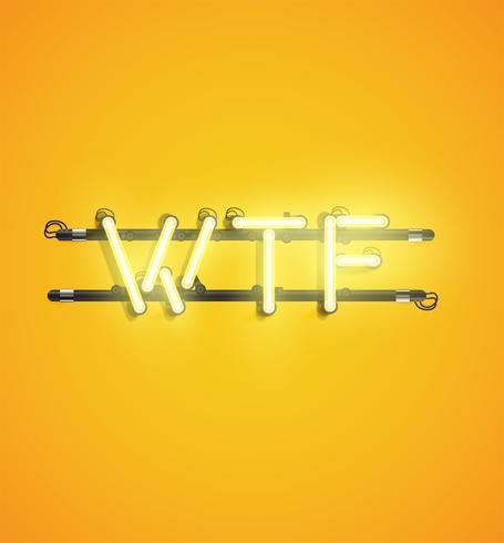 Palabra realista de neón para publicidad, ilustración vectorial vector