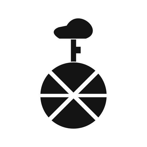 Vektor-Einrad-Symbol