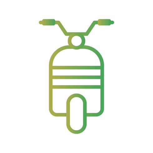 Vektor-Scooter-Symbol
