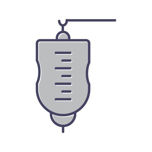 Medicinsk dropplinje fylld ikon