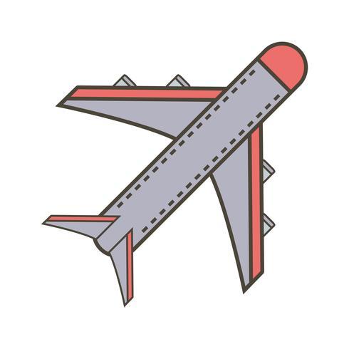Vector vliegtuig pictogram