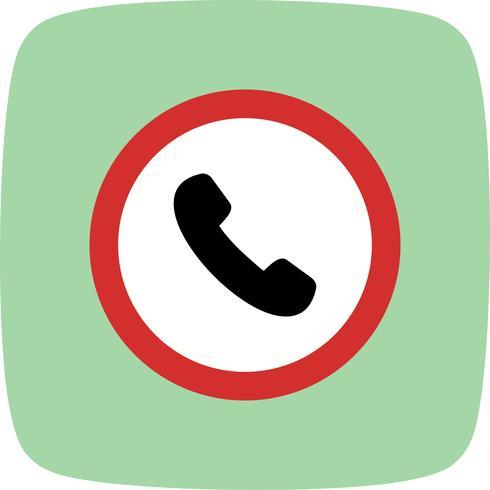 Vektor-Telefon-Straßenschild-Symbol