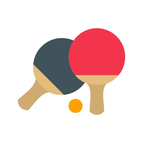 illustrazione di vettore dell'icona di ping pong