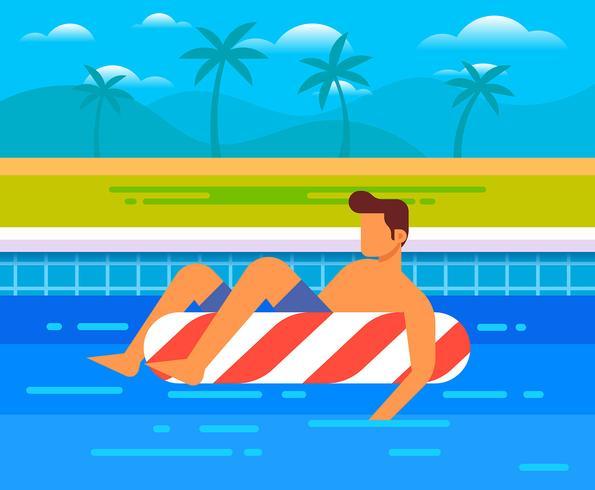 Person Enjoying Summer vector