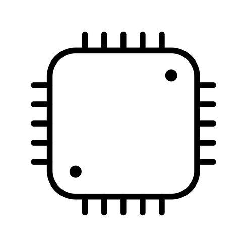 Processor Icon Vector Illustration