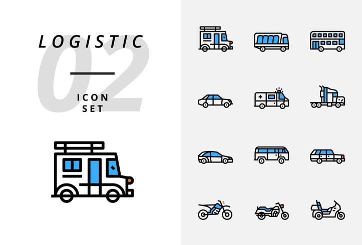 Pack d'icônes pour la logistique, la livraison par drone, la destination, le maintien au sec, la logistique globale, la maison, l'achat, la sécurité, le délai de livraison, la protection, la livraison, la sécurité, le transport.