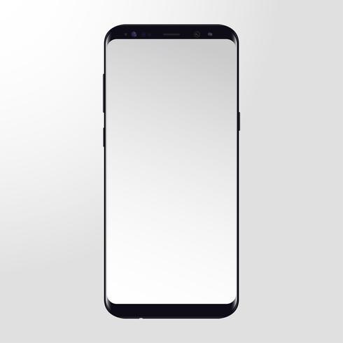Modèle de téléphone portable vecteur libre