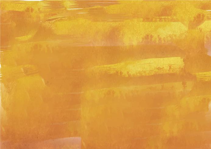 Fondo pintado a mano colorido de la acuarela. Pinceladas de acuarela amarilla. Textura y fondo abstractos de la acuarela para el diseño. Fondo de acuarela sobre papel con textura. vector