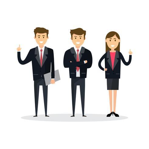 Pessoas de negócios, trabalho em equipe, ilustração vetorial em estilo simples