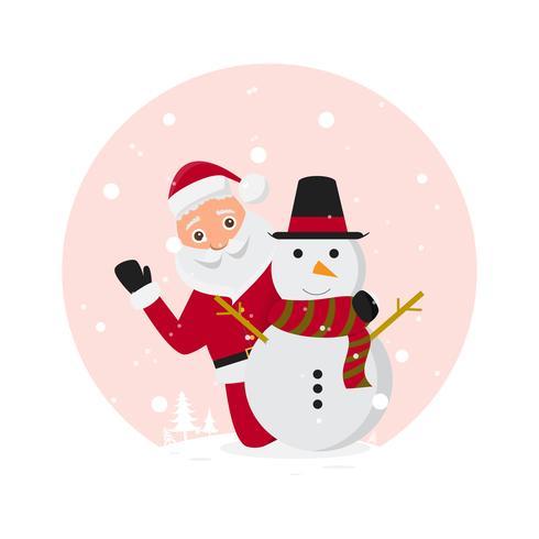schattige kerstman tekens in verschillende emoties.