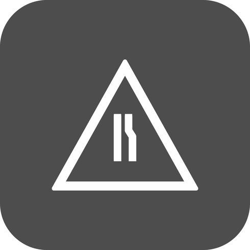 Vector Road se reduce a la derecha Road Sign Icon