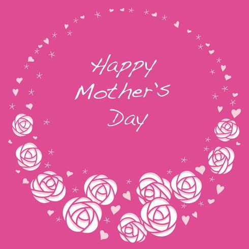 Vector redondo rosa marco con espacio de texto para el Día de la Madre, Día de San Valentín, nupcial, etc.