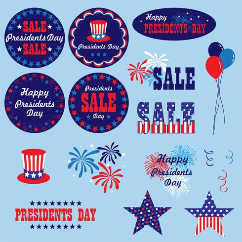röd vitblå presidenter dag clipart grafik