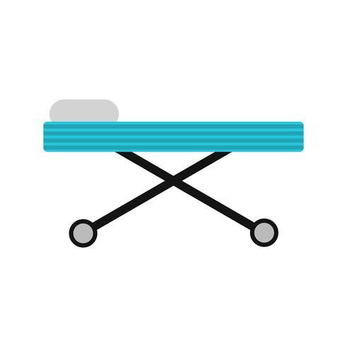 Icono de vector camilla