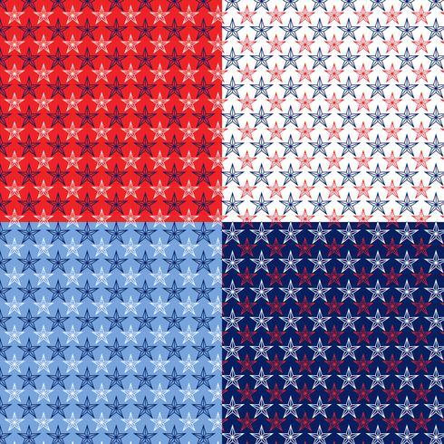 patrones de estrellas náuticas sin costura vector