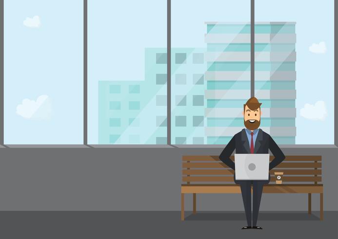 Bedrijfsmensengroepswerk, Vectorillustratie in vlakke stijl
