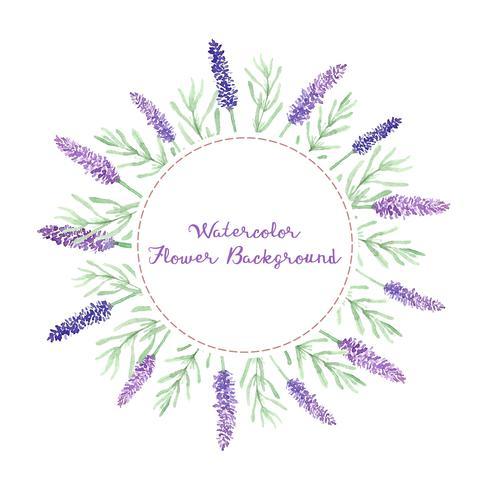 Aquarell Lavendel Blumen Hintergrund