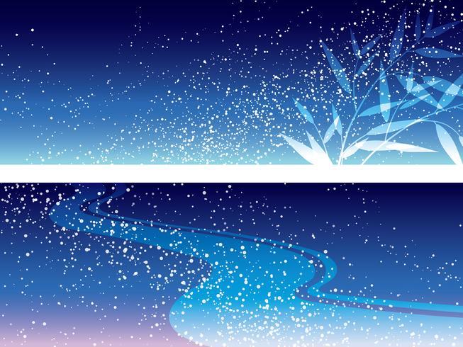 Satz von zwei Vektor-Milchstraßenillustrationen für das japanische Star Festival.