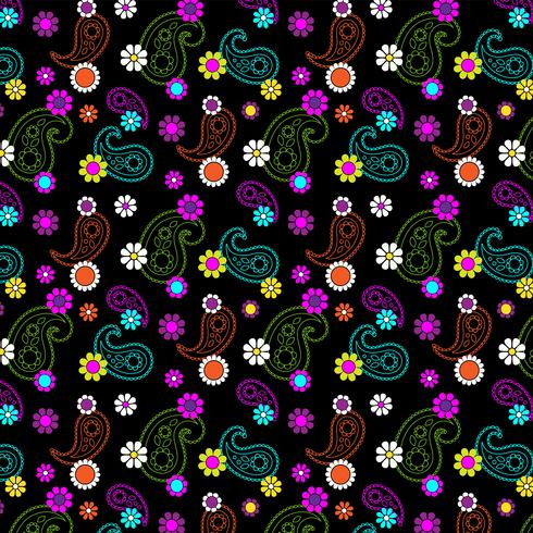 mod floral paisley pattern