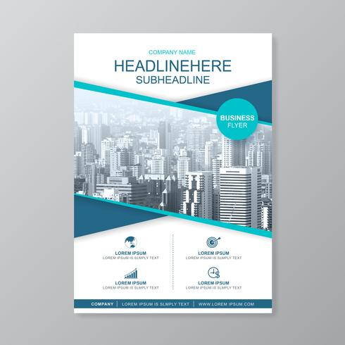 Business cover a4 template for a report and brochure design
