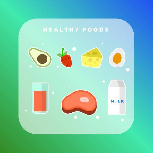 Gesunde Lebensmittelkollektion