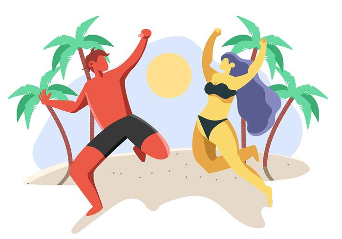 Gente disfrutando el verano