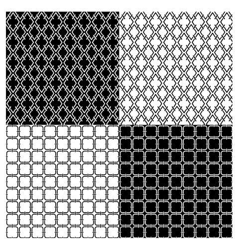 patrones geométricos en blanco y negro
