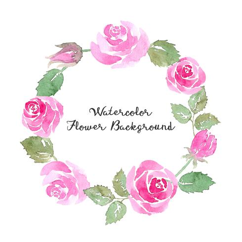 watercolor rose flower background