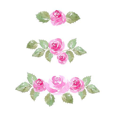 akvarell steg blomma smycken