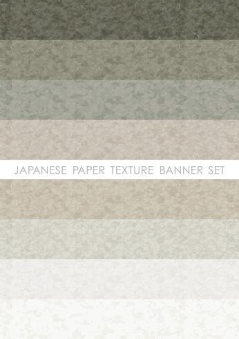 Japanisches Papier Banner gesetzt.
