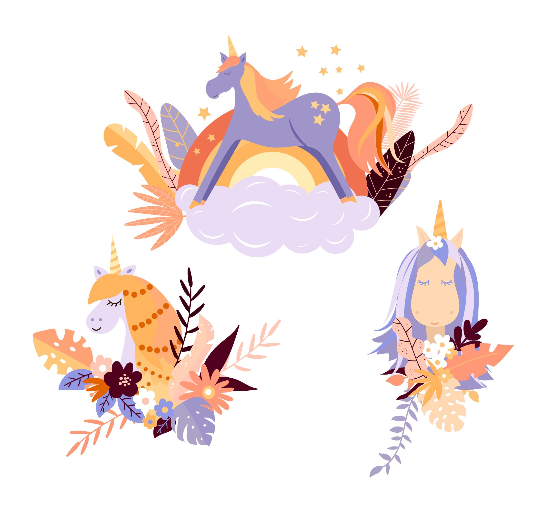 unicorns 426949  download free vectors clipart graphics