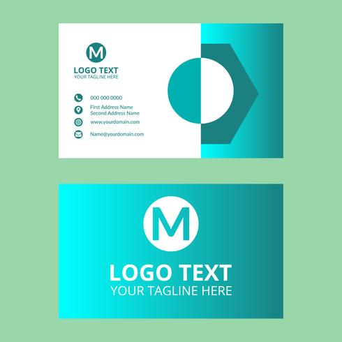 Cyan Business card 22