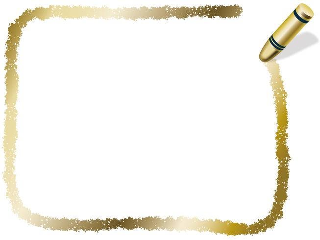 Goldrechteckzeichenstiftrahmen, Vektorillustration.
