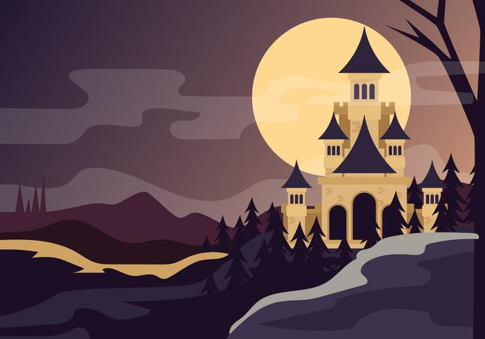 Wizard School At Night