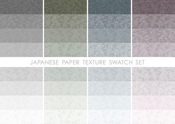 Japansk pappersstämpeluppsättning.