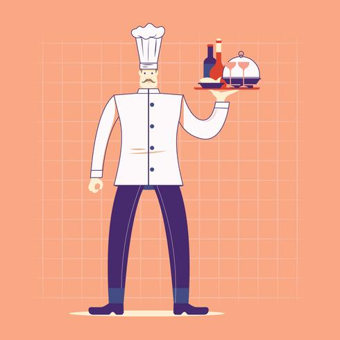 Bom Chef, servindo o prato