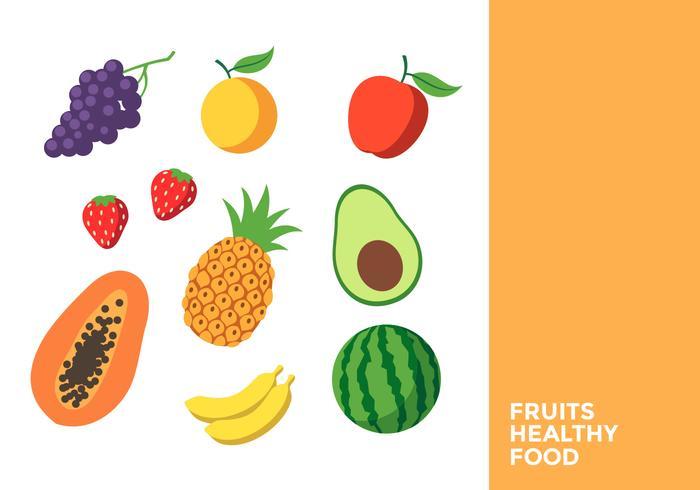 Frutos Alimentos Saudaveis Download Vetores Gratis Desenhos De
