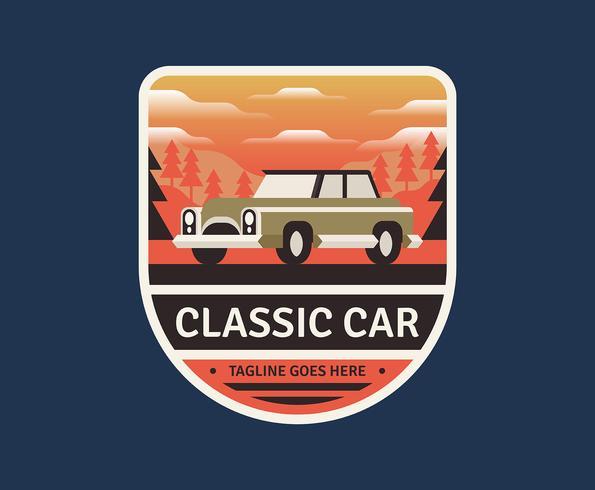 Emblema retro do carro
