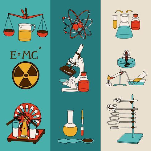 Bandiere di schizzo di scienza