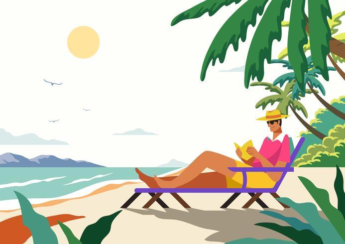 Persona que disfruta el verano