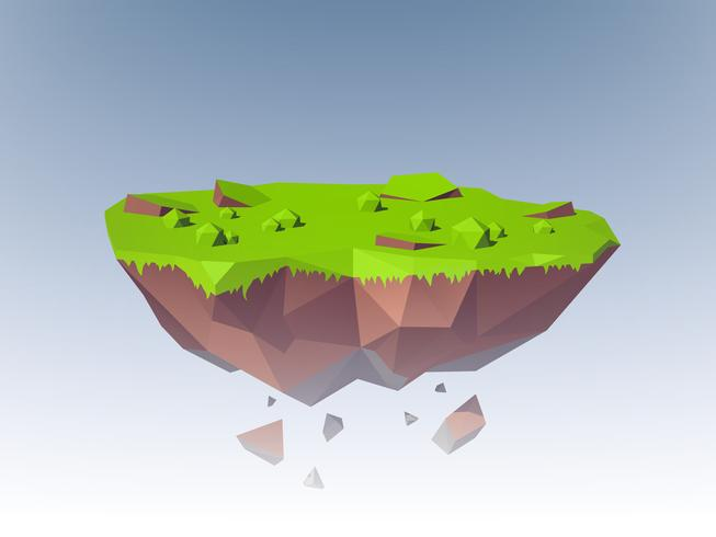 Ilha voadora poligonal