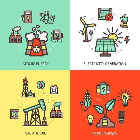 Concepto de diseño de energía vector