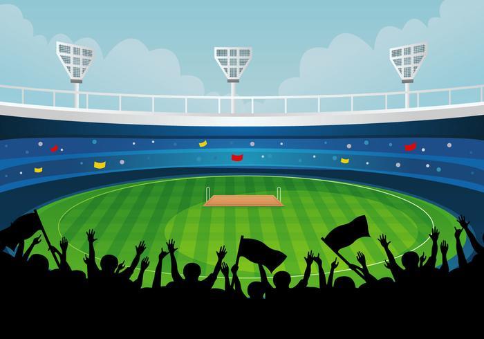 Cricket Stadium vector