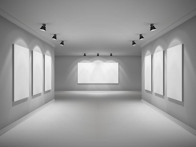 Galería Interior Realista vector