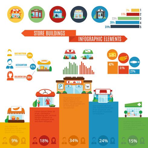 Store Building Infographics