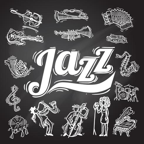 jazz tavlor uppsättning vektor
