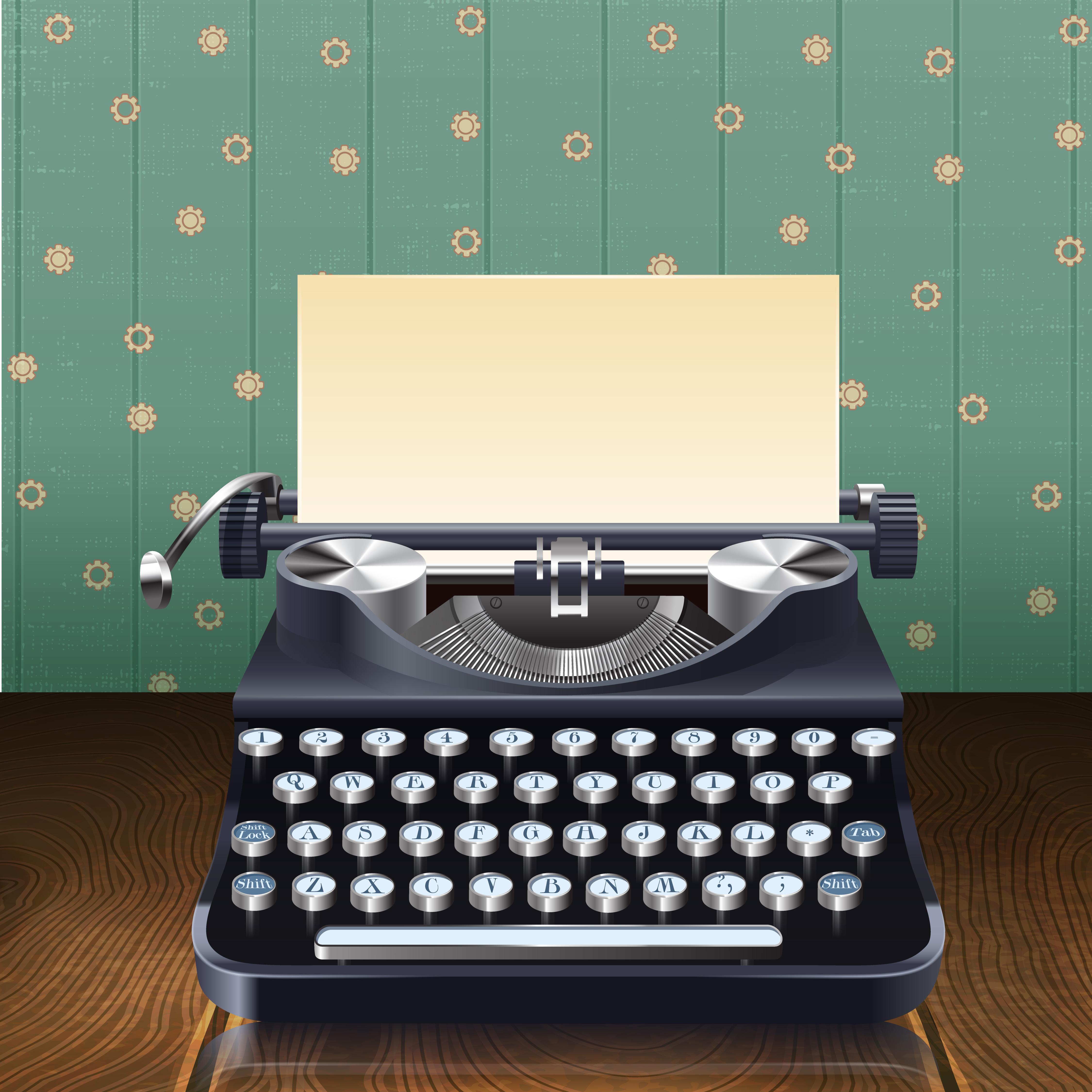 Vintage Secretary Desk >> Retro Style Typewriter - Download Free Vectors, Clipart ...